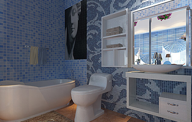 trendy mosaic ideas by room 2